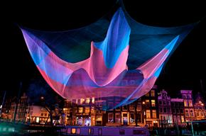 Světelná instalace Janet Echelman