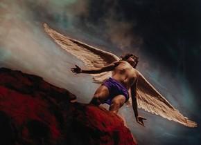 David LaChapelle: Archangel Gabriel 2, 1986, original Cibachrome print